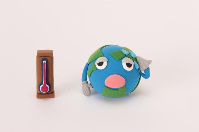 汗をかく地球