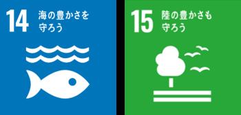 SDGs14,15